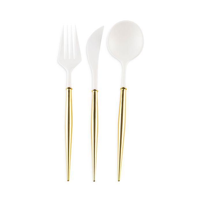 Sophistiplate - Metallic Handle Cutlery, Set of 48