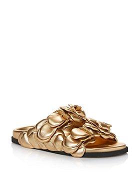 Valentino Garavani - Women's Atelier 03 Rose Edition Embellished Slide Sandals