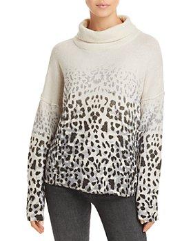 Vintage Havana - Faded Leopard Print Sweater