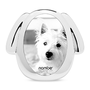 Nambe Dog Picture Frame, 3x 5
