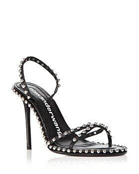 Alexander Wang - Women's Nova Studded Crisscross High Heel Slingback Sandals