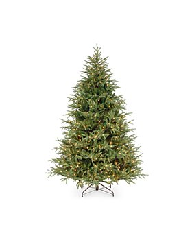 National Tree Company - 6.5 ft. Feel Real® Fraser Grande Hinged Tree with 550 Dual Color Lights