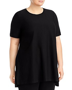 Eileen Fisher Plus - Stretch Crepe Crewneck Tunic