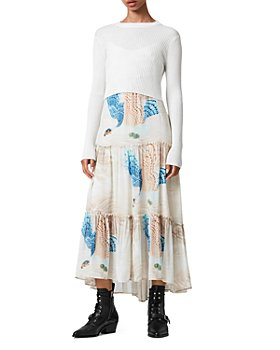 ALLSAINTS - Tilly 2-in-1 Midi Dress