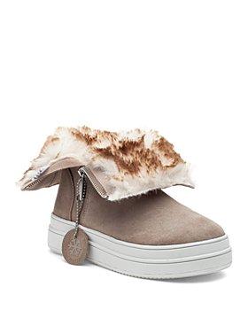 J/Slides - Women's Tristan Faux Fur Lined Waterproof Sneaker Boots