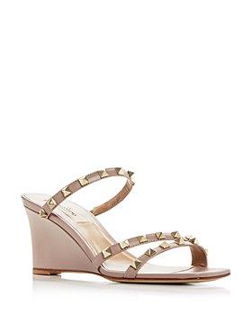 Valentino Garavani - Women's Rockstud Wedge Slide Sandals