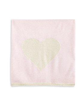Bloomie's - Girls' Glitter Heart Cashmere Baby Blanket