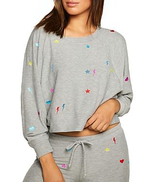 Printed Cropped Sweatshirt