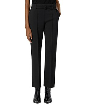 The Kooples - Straight Leg Belted Black Suit Trousers