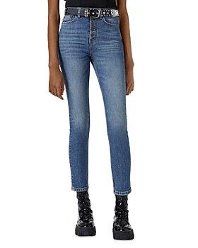 The Kooples - Straight Leg Jeans in Blue