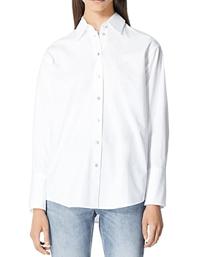 The Kooples BUTTONED COTTON SHIRT