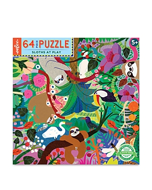 eeBoo 64 Piece Sloths at Play Puzzle - Ages 5+