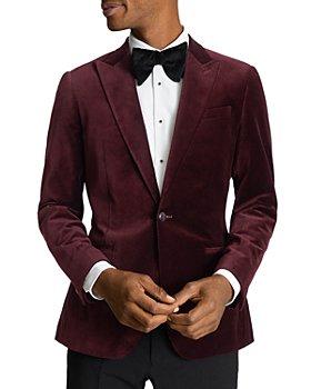 REISS - Slim Fit Peak Velvet Jacket