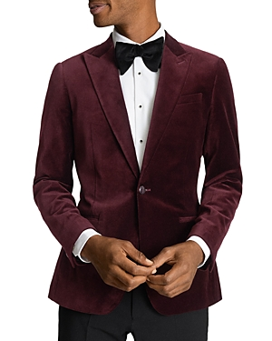 Reiss SLIM FIT PEAK VELVET JACKET
