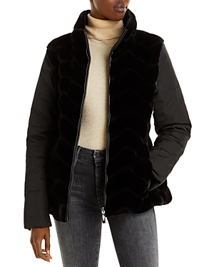 Via Spiga Reversible Faux Fur Coat-Women