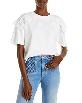 See by Chloé - Ruffle Trim Short Sleeve Top