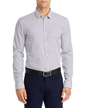 HUGO - Ero3-W Geo Print Extra Slim Fit Button Down Shirt