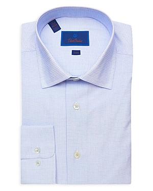 David Donahue Micro Check Trim Fit Dress Shirt