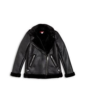 AQUA - Girls' Faux Shearling Jacket - Big Kid