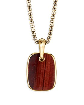 David Yurman - Tablet Amulet in 18K Yellow Gold with Red Tiger's Eye