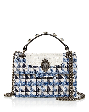 Kurt Geiger London Mini Kensington Tweed Crossbody-Handbags