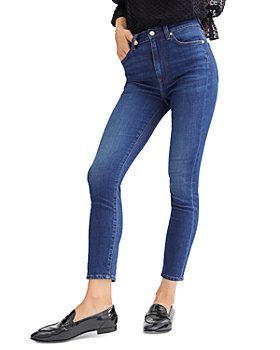 7 For All Mankind - High Waist Skinny Ankle Jeans in B(air) Silk Catalina