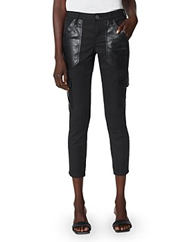 Joie - Okana Faux Leather Trimmed Cropped Pants