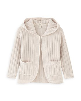Peek Kids - Girls' Lillian Hooded Ribbed Cardigan - Little Kid, Big Kid