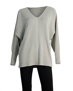 Sioni - Dolman Sleeve V Neck Sweater
