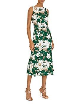 Oscar de la Renta - Floral Print Midi Dress