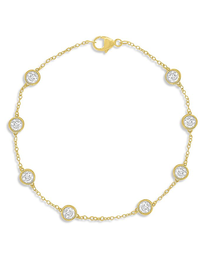 Bloomingdale's - Diamond Station Bracelet in 14K Yellow Gold, 1.50 ct. t.w. - 100% Exclusive