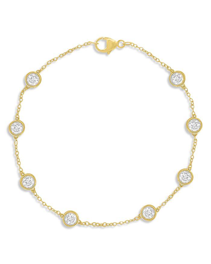 Bloomingdale's Diamond Station Bracelet in 14K Yellow Gold, 1.50 ct. t.w. - 100% Exclusive  | Bloomingdale's