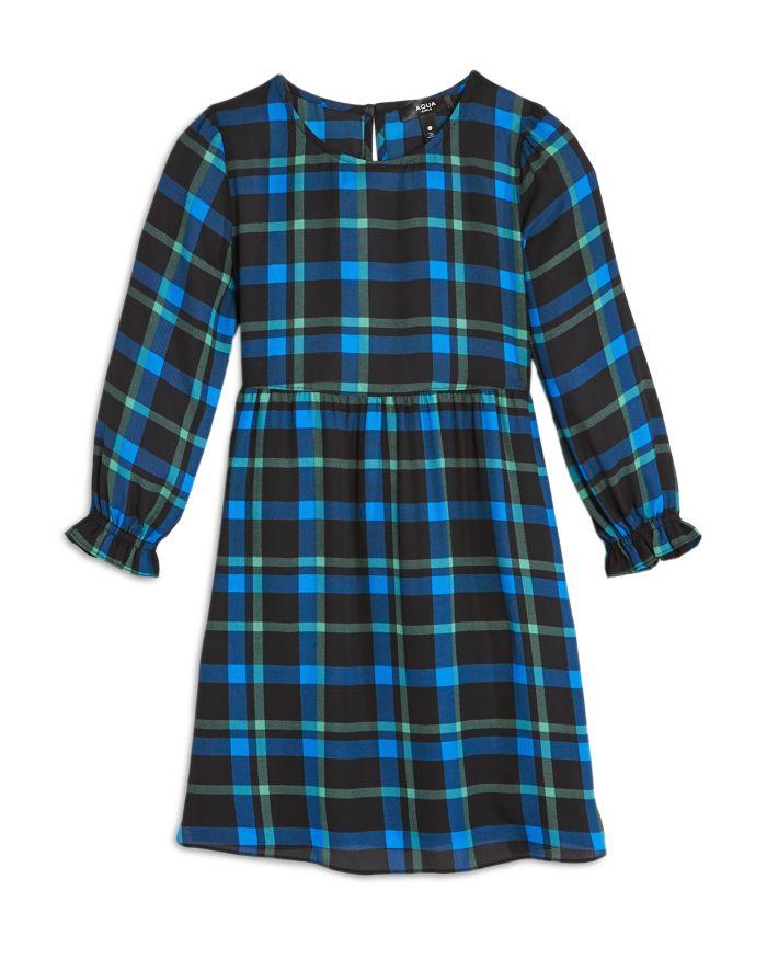 AQUA Girls' Plaid Dress, Big Kid - 100% Exclusive  | Bloomingdale's