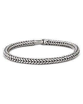 David Yurman - Sterling Silver Chevron Bead Bracelet