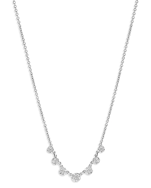 Bloomingdale's Diamond Flower Droplet Necklace in 14K White Gold, 0.50 ct. t.w. - 100% Exclusive