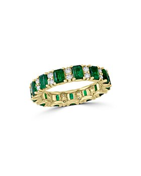 Bloomingdale's - Emerald & Diamond Ring in 14K Yellow Gold - 100% Exclusive