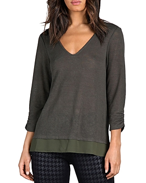 SANCTUARY RUCHED SLEEVE TEE