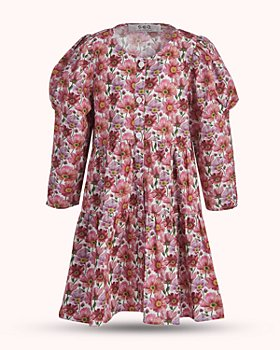 Sea - Girls' Floral Tiered Dress - Little Kid