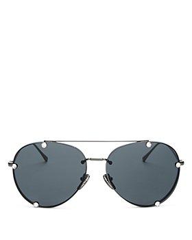 Valentino - Women's Brow Bar Aviator Sunglasses, 59mm
