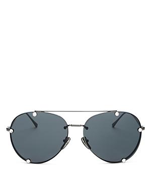 Valentino Women\\\'s Brow Bar Aviator Sunglasses, 59mm-Jewelry & Accessories