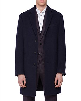 PS Paul Smith - Textured Single-Breasted Overcoat