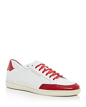 Saint Laurent Men's Perforated Low Top Sneakers
