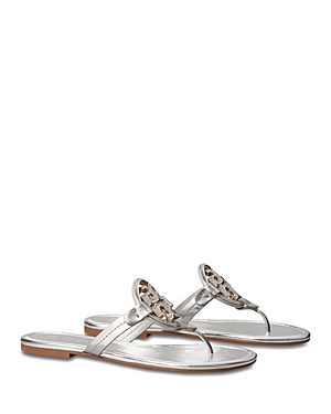 Tory Burch WOMEN'S MILLER EMBELLISHED LOGO LEATHER SANDALS