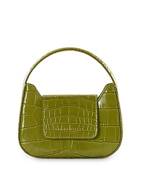 SIMON MILLER - Retro Mini Croc-Embossed Top Handle Bag