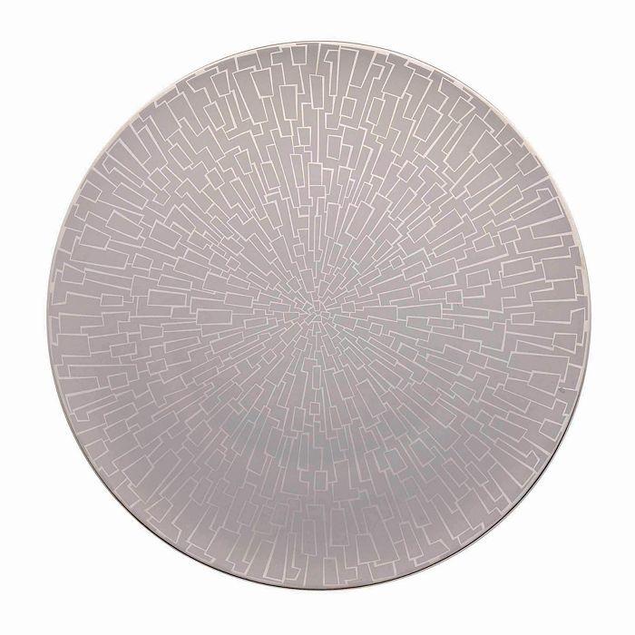"Rosenthal - ""Tac 02 Skin Platinum"" Service Plate"