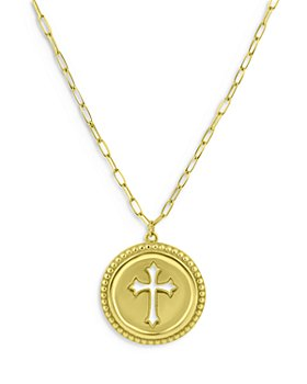"""Bloomingdale's - Cross Medallion Necklace in 14K Yellow Gold, 18"""" - 100% Exclusive"""