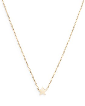 Adina Reyter - 14K Yellow Gold Puffy Star Pendant Necklace, 16""