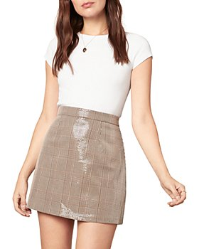 cupcakes and cashmere - Sequin Plaid Mini Skirt