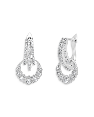 18K White Gold Galaxia Diamond Moon Drop Earrings