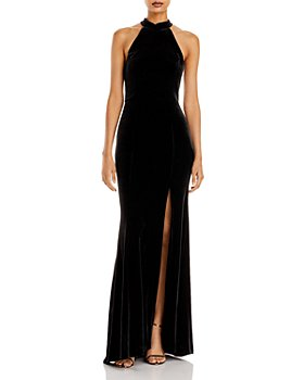 AQUA - Velvet Halter Gown - 100% Exclusive